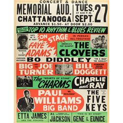 Bo Diddley and Etta James Rhythm & Blues 1955 Chattanooga Poster