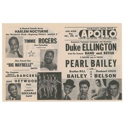Duke Ellington 1953 Apollo Theatre Handbill