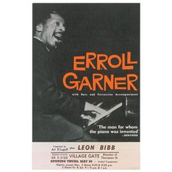 Erroll Garner 1965 Village Gate Handbill