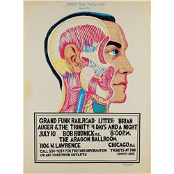 Grand Funk Railroad 1970 Chicago Poster