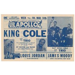 Nat King Cole Apollo Theatre Handbill