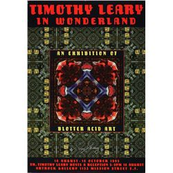 Timothy Leary Signed 1995 Exhibition Poster