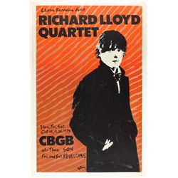 Richard Lloyd Quartet 1979 CBGB Poster