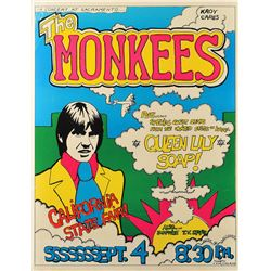 The Monkees 1968 Sacramento Poster