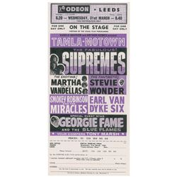 The Supremes and Stevie Wonder 1965 Odeon Handbill