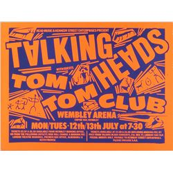 Talking Heads 1982 Wembley Arena Poster