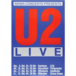 U2 1984 German Tour Poster