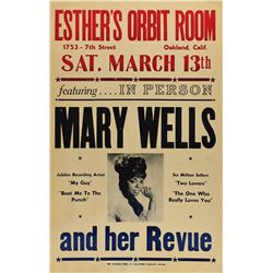 Mary Wells 1965 Oakland Poster
