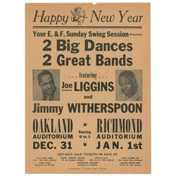 Jimmy Witherspoon and Joe Liggins Group of (3) Oakland and Richmond Handbills