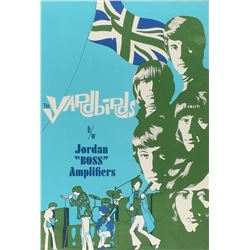 The Yardbirds 1960s Jordan 'Boss' Amplifiers Poster