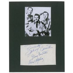 Johnny Burnette and the Rock 'n Roll Trio Signatures