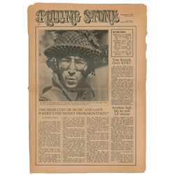 Ralph Gleason's First Issue of Rolling Stone Magazine