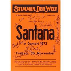 Santana Signed Handbill