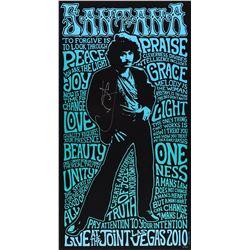 Carlos Santana Signed Las Vegas Concert Print