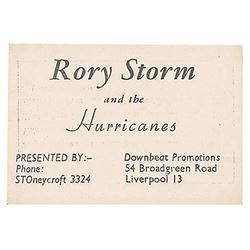 Rory Storm and the Hurricanes Business Card