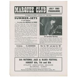 The Who Marquee Club July 1965 Program