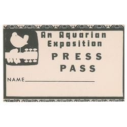 Woodstock Press Pass