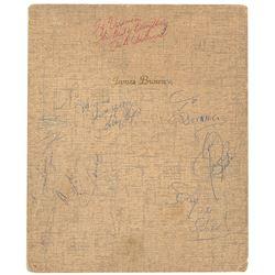 James Brown Signed Folio