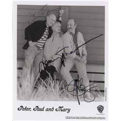 Peter, Paul, and Mary Signed Promotional Photograph