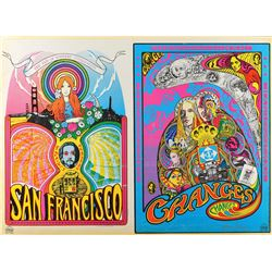 Grace Slick Signed 1960s San Francisco Poster