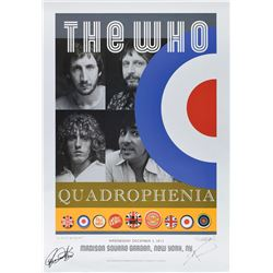 The Who 2012 Signed Quadrophenia Tour Poster