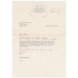 The Who: Pete Townshend Typed Letter Signed to Paul McCartney