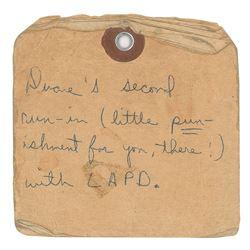 Duane Allman Handwritten Prison Note