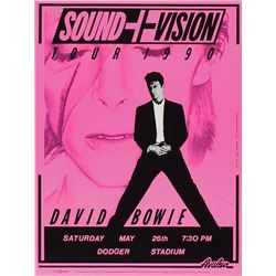 David Bowie 1990 Dodger Stadium Poster