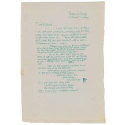 Eric Clapton Autograph Letter Signed