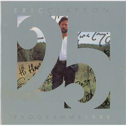 Eric Clapton Signed Program