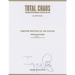 Iggy Pop Limited Edition Book and Signed Certificate
