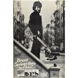 Bruce Springsteen Born to Run Promo Poster
