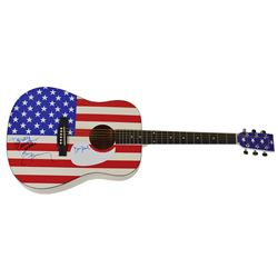 America Signed Guitar and Album