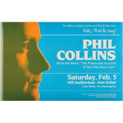 Phil Collins 1983 Ann Arbor Concert Poster