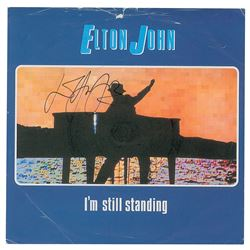 Elton John Signed Record Sleeves
