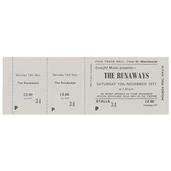 Manchester Free Trade Hall Late 1970s Ticket Collection
