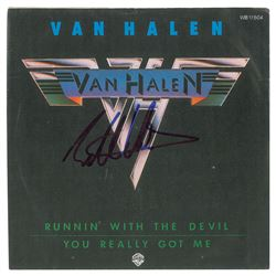 Eddie Van Halen Signed 45 RPM Record