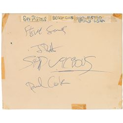 The Sex Pistols Signatures