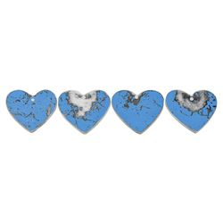 Prince Group of (4) Heart Mirror Charms