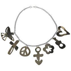 Prince Silver-Tone Waist Chain Charm Belt