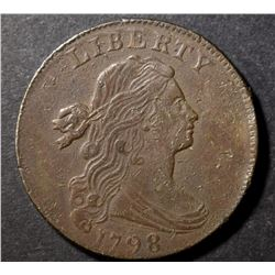 1798 DRAPED BUST LARGE CENT, XF DETAILS