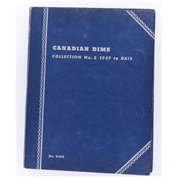 CANADIAN SILVER DIME BOOK 1937-58