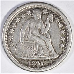 1841-O SEATED LIBERTY DIME AU
