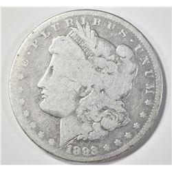 1893-CC MORGAN DOLLAR  GOOD