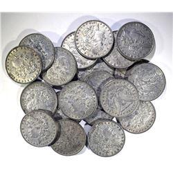 ROLL OF 20 100% ORIGINAL 1878 7F MORGAN DOLLARS: