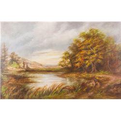 Hudson River Oil Board Framed Artist Signed