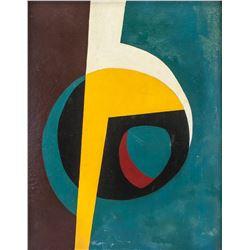 Luis Martinez Pedro Cuban Modernist Oil on Board