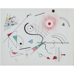 Wassily Kandsinky Russian Suprematist Mixed Signed