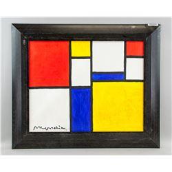 Piet Mondrian Dutch Abstract Oil on Canvas