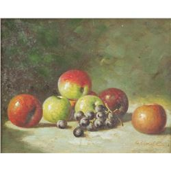 G. Clouet French Oil on Canvas Still Fruits